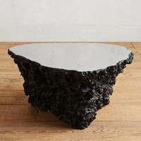 Lava Stone Coffee Table by Anthropologie in Black Size: One Size Furniture