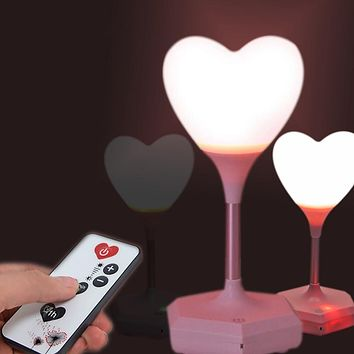 USB Rechargeable Romantic LED Heart Balloon Night Light
