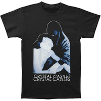 Crystal Castles Men's  2013 Spring Tour Burka Slim Fit T-shirt Black