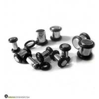 Stainless Steel No Flare Plugs   Sold in Pairs   Great For New Ear Stretching