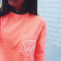 Pocketed Neon Coral Classic Print