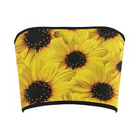 Sunflower Print Bandeau Top