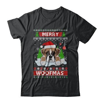Boxer Merry Woofmas Ugly Christmas Sweater