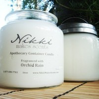 WHITE CHOCOLATE - 16oz Apothecary Jar Candle | nikkicandles - Candles on ArtFire