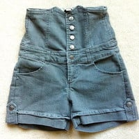 Forever 21 High Waisted Grey Denim Shorts from Preppy Boutique