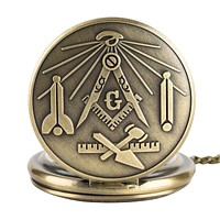 Masonic Collection Pocket Watches - 5 Colors