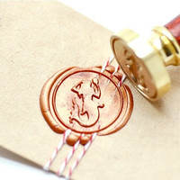Mermaid Mythical Creatures B20 Gold Plated Wax Seal Stamp x 1