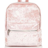 **Pink Velvet Mini Backpack by Skinny Dip