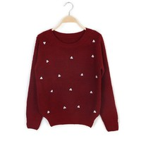 ZLYC Column Scoop Neck Pattern with Skirt Christmas Sweater Suit For Women