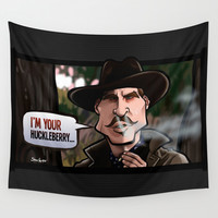I'm Your Huckleberry (Tombstone) Wall Tapestry by BinaryGod.com