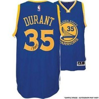 Autographed Golden State Warriors Kevin Durant Blue Adidas Swingman Jersey - Panini Au