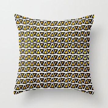 Aztec Gold Empire - Gold and Black Throw Pillow – 3 Sizes Available