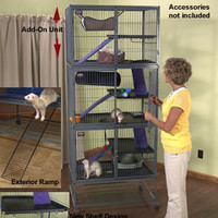 Two-Story Ferret Nation: Expandable Ferret Cage Loaded with Features & Accessibility