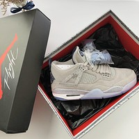 Air Jordan 4 Retro Georgetown Hoyas Pe Sneakers