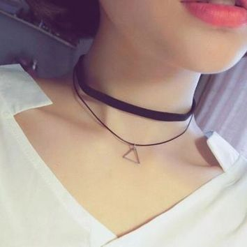 Shiny Gift Jewelry Stylish New Arrival Korean Vintage Strong Character Simple Design Double-layered Set Necklace [8080527431]