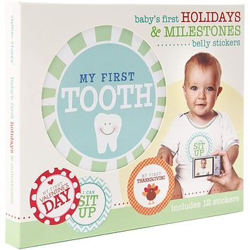 First Year Milestones and Holidays Baby Belly Stickers