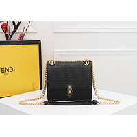 Fendi Women Leather Shoulder Bag Satchel Tote Bag Handbag Shopping Leather Tote Crossbody