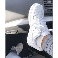 NIKE AIR FORCE 1 fashion classic men and women all-match casual white shoes sneakers-1