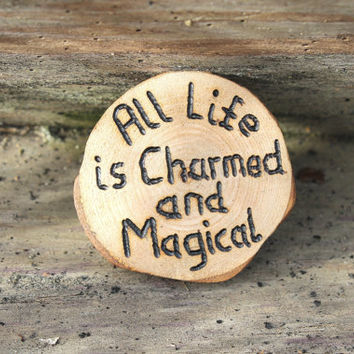 Wiccan altar tile, altar decor, pagan altar tile, wiccan rede, charmed and magical, wiccan charm, ritual talisman, yule decor, yule gift