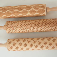 Custom rolling pin - laser engraved rolling pin to emboss your cookies