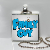Family Guy Square Tile Pendant Necklace or Keychain