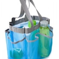 Portable Shower Tote (Blue) (9