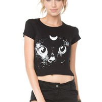 Brandy ♥ Melville |  Carolina Crescent Cat Top - Graphics