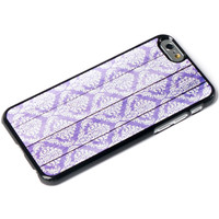Purple Damask on Wood iPhone 6 Case iPhone 5 Case iPhone 5s Case Wooded iPhone Case