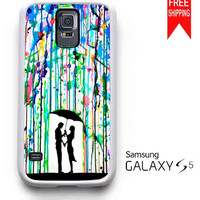 Love Song Romantic in The Rain Paint Samsung Galaxy S5 Case