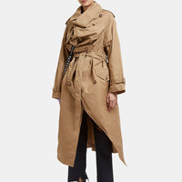 Facetasm Structured Raincoat in Beige | LN-CC