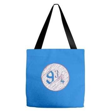 nine three quarters harry potter hogwarts Tote Bags