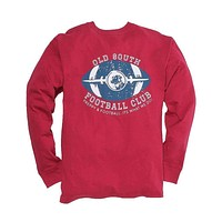 Exclusive Preppy and Football Long Sleeve Tee in Rhubarb by Southern Proper