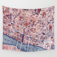 City of London Wall Tapestry by ALLY COXON
