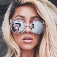 Brand Design Cat Eye Sunglasses Women Brand Designer Vintage Retro Mirror Sunglass Female Sun Glasses For Women