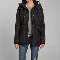 A&F All-Season Weather Warrior Sherpa Lined Parka