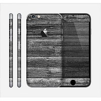 The Black Planks of Wood Skin for the Apple iPhone 6