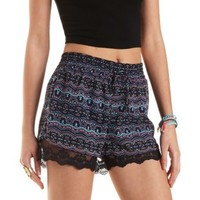 Lace-Trim Chiffon Drawstring Shorts by Charlotte Russe