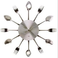 Silverware Kitchen Wall Clock