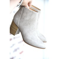 Going Far Booties - Taupe
