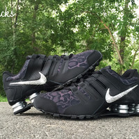 Nike Shox Current Glitter Kicks Running Shoes Black Snake Print