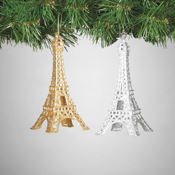 Sparkling Eiffel Tower Ornament - 6-in
