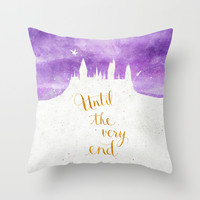 "Harry Potter ""Until the very end"" Throw Pillow by Earthlightened"