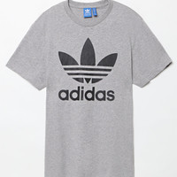 adidas Originals Trefoil Grey Heather and Black T-Shirt at PacSun.com