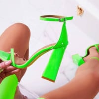Hot style hot selling sexy simple word with thick heel sandals