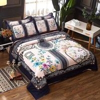 3D Chinese style 100% Cotton Bedding Sets Queen King size Duvet/Quilt cover Bed sheet/linen set Pillowcase