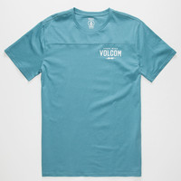 Volcom Serum Mens T-Shirt Teal Blue  In Sizes