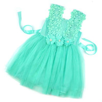 Baby Girl Dress Lace Flower Baby Girl Clothes Princess Tutu Children Dresses vestidos infantis girls tutu dress LZH7