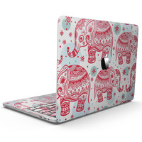 Sacred Red Elephant and Polkadots - MacBook Pro with Touch Bar Skin Kit