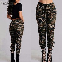 Army Cargo Pants Women Camouflage Pants