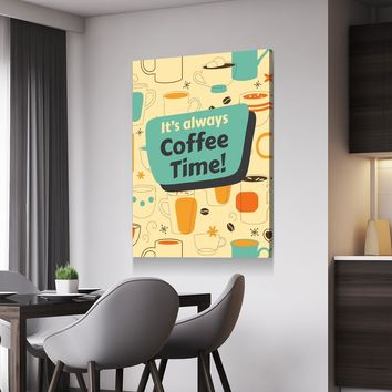 Coffee Time Canvas Set